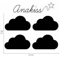 stickers mural nuage pour chambre b b. Black Bedroom Furniture Sets. Home Design Ideas