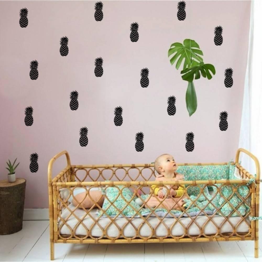 Stickers Muraux Chambre Bébé sticker mural ananas pour chambre enfant