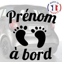 Sticker b/éb/é /à bord pour voiture Enfants /à Bord 20 cm Blanc Anakiss